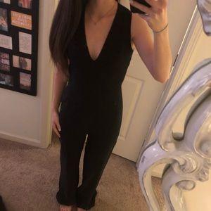Black jumpsuit with cut out back